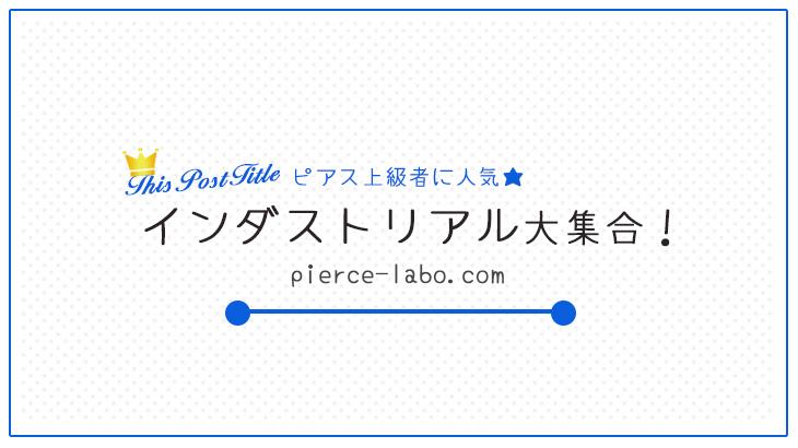 【14Gボディピアス】お洒落なインダストリアル大集合【これでピアス上級者】